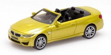 Minichamps 870027234 BMW M4 Cabrio gelb (2015)