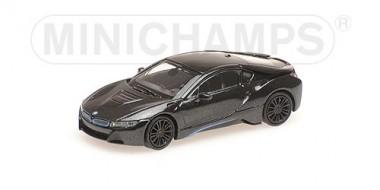 Minichamps 870028222 BMW i8 Coupe grau-met. 2015