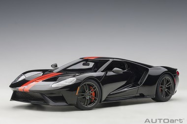 AUTOart 72945 Ford GT 2017 black/ orange stripes