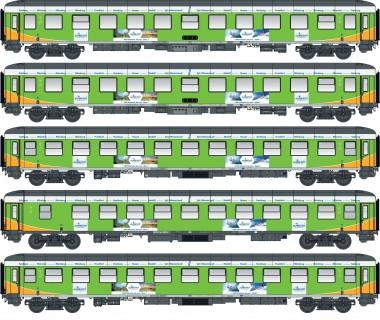 LS Models 46034 Alpen-Sylt Express Wagen-Set 5-tlg Ep.6