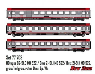 LS Models 77703 ÖBB EC Personenwagen-Set 3-tlg Ep.6a