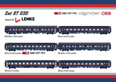LS Models 97030AC ÖBB Nightjet Set 6-teilig Ep.6 AC