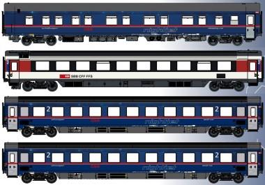 LS Models MW1811-1 ÖBB NIGHTJET Personenwg.-Set 4-tlg. Ep.6