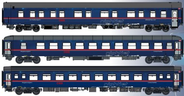 LS Models MW1811-2 ÖBB NIGHTJET Personenwg.-Set 3-tlg. Ep.6