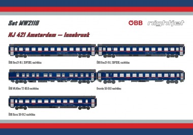 LS Models MW2118AC ÖBB Nightjet Set NJ421 5-teilig Ep.6 AC