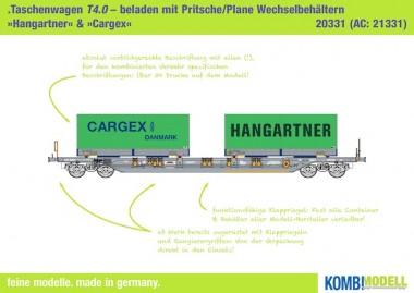 Kombimodell 20331.01 Hupac SBB Taschenwagen 4-achs Ep.5
