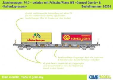 Kombimodell 20334.01 Hupac SBB Taschenwagen Ep.5