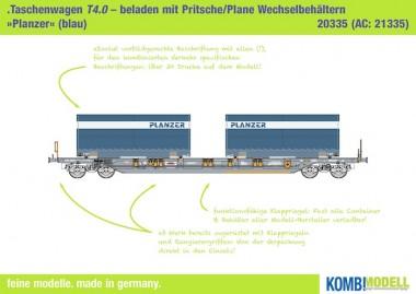 Kombimodell 20335.02 Hupac SBB Taschenwagen 4-achs Ep.6