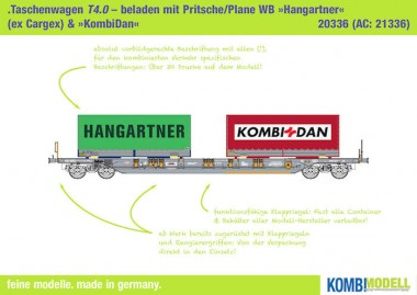 Kombimodell 20336.01 Hupac SBB Taschenwagen Ep.5