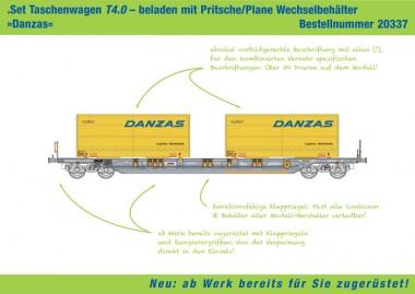 Kombimodell 20337.02 Hupac Taschenwagen 4-achs Ep.6