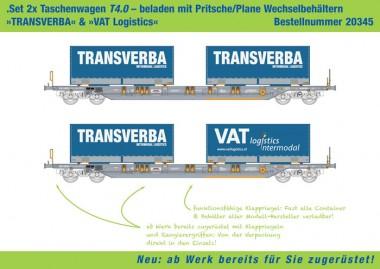 Kombimodell 20345.01 Hupac SBB Taschenwagen-Set 2-tlg Ep.5