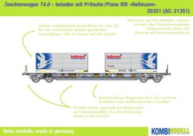 Kombimodell 20351.01 Hupac SBB Taschenwagen 4-achs Ep.6