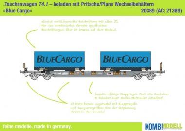 Kombimodell 20389.01 Hupac SBB Taschenwagen 2-achs Ep.5/6