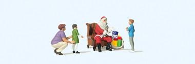 Preiser 10763 Weihnachtsmann im Sessel. Mutter mit