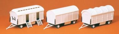 Preiser 20008 Pack- u. Toilettenwagen 3 St.