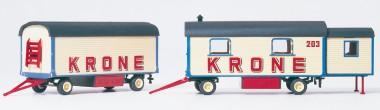 Preiser 21051 Wohnwagen und Packwagen