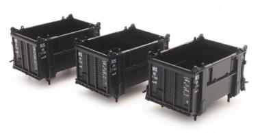 Artitec 487.801.12 Geschlossene schwarze Container, 3 St.