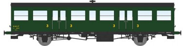 REE Modeles VB147 SNCF Personenwagen 3.Kl. 2-achs Ep.3a