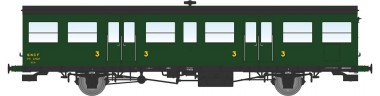 REE Modeles VB148 SNCF Personenwagen 3.Kl. 2-achs Ep.3a