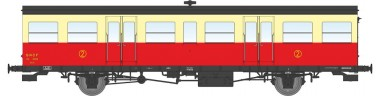 REE Modeles VB157 SNCF Triebwagen-Beiwagen 2.Kl. Ep.3b