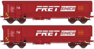 REE Modeles WBSE006 SNCF FRET Hochbordwagen-Set 2-tlg Ep.5