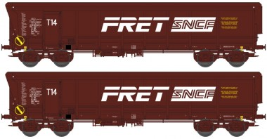 REE Modeles WBSE007 SNCF FRET Hochbordwagen-Set 2-tlg Ep.5