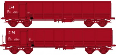 REE Modeles WBSE012 SNCF Hochbordwagen-Set 2-tlg Ep.5