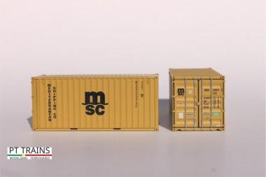 PT Trains 820015 20´DV MSC (MEDU5396197)