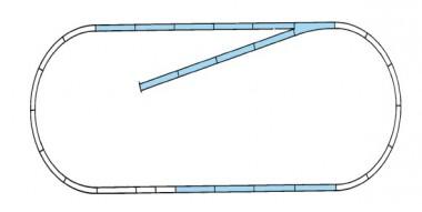 Roco 42010 Gleisset B ROCO LINE m.Bettung