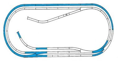 Roco 42012 Gleisset D ROCO-LINE mit Bettung