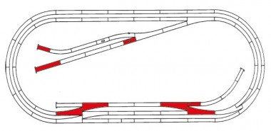 Roco 42013 Gleisset E ROCO-LINE m.Bett.