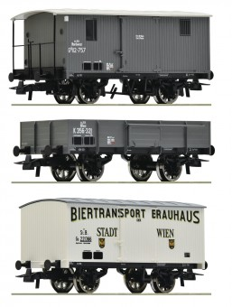 Roco 76037 KKSTB/BBÖ Güterwagen-Set 3-tlg Ep.1