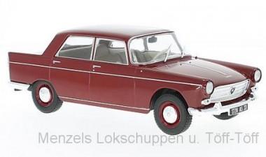 White Box WB124024 Peugeot 404 dunkelrot 1960
