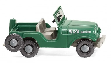 Wiking 001103 Jeep W&W Holzbau