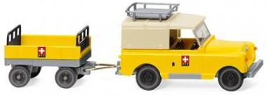 Wiking 010005 Land Rover mit Anhänger PTT