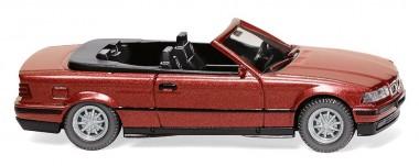 Wiking 019401 BMW 3er Cabrio (E36) weinrot