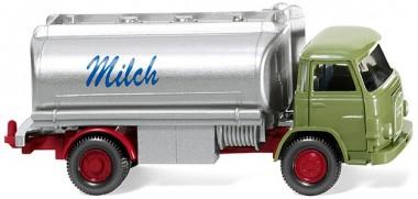 Wiking 080748 MAN 415 Milch-Lkw reseadgrün/silber