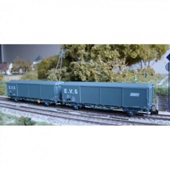 Trains 160 16030 SNCF EVS ged. Güterwagen-Set 2-tlg. Ep.4