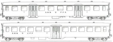 MW-Modell N-CH-220b SBB Personenwagen-Set 2-tlg Ep.3