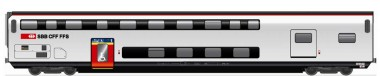 HAG 61098 SBB Doppelstockwagen Gepäck Ep.6 AC