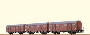 Brawa 67805 DB gedeckter Güterwagen Set 3-tlg Ep.4