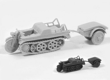Trident 90124G SdKfz 2 Kettenkrad WH grau