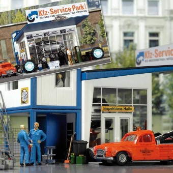 Busch 1062 Reifenhandel mit Bürocontainer