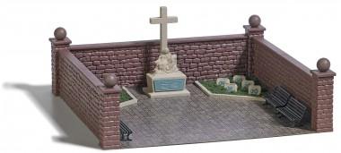 Busch 1094 Soldatenfriedhof mit Kriegsdenkmal