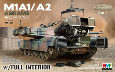 Rye Field Model RM-5007 M1A1 / A2 Abrams with full Interior 2in1