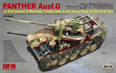 Rye Field Model RM-5019 Panther Ausf.G with full interior