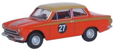 Oxford 76COR1004 Ford Cortina MKI Red/Gold