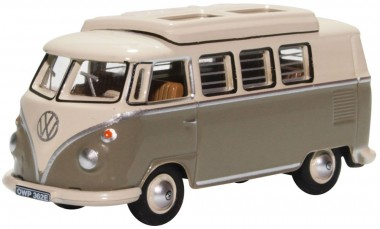 Oxford 76VWS006 VW T1 Camper Mouse Grey/Pearl White