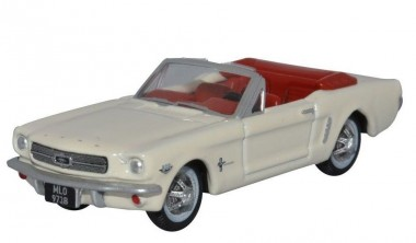 Oxford 87MU65005 ´64 Ford Mustang Cabriolet weiß
