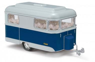 Busch Autos 51702 Nagetusch Wohnwagen blau